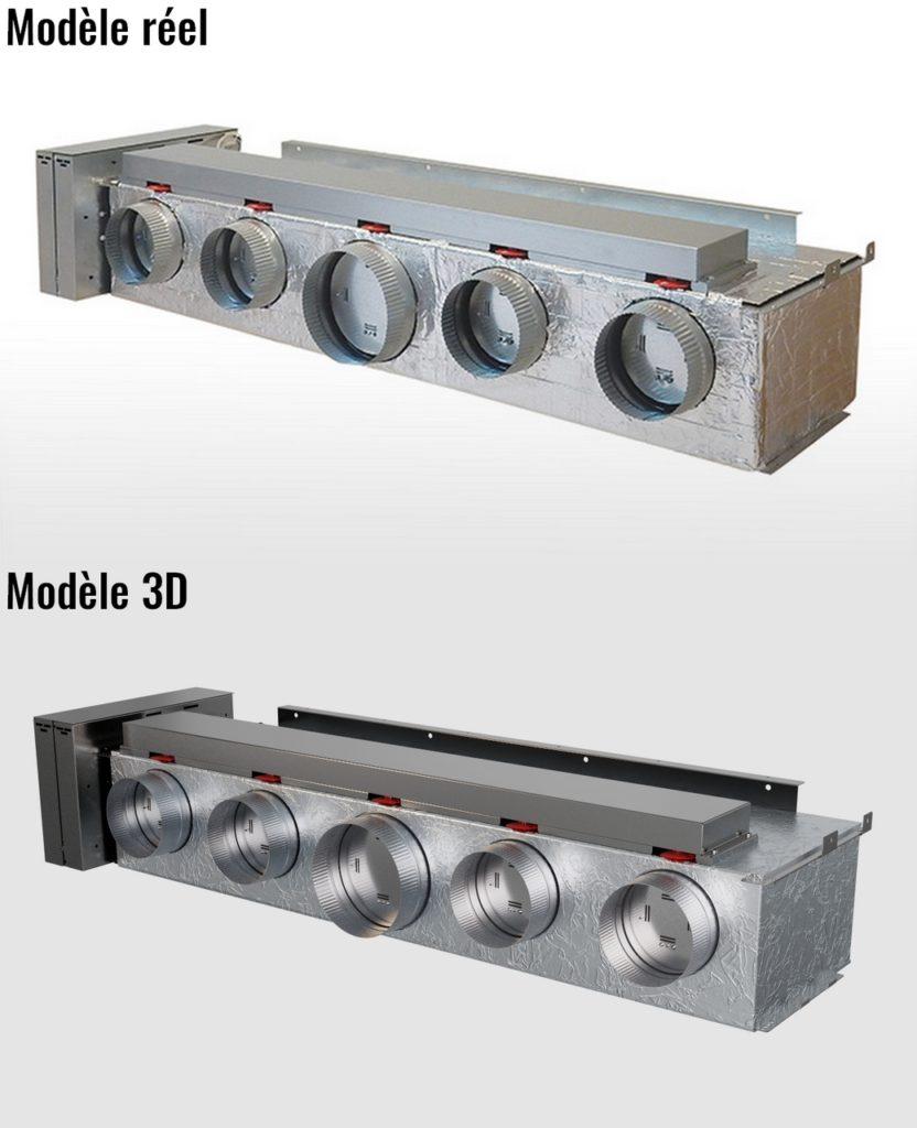 Modelisation 3D produit Atlantic Zone Control 2.0  gros plan face