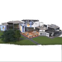 Modélisation 3D du Village by CA (crédit Agricole)