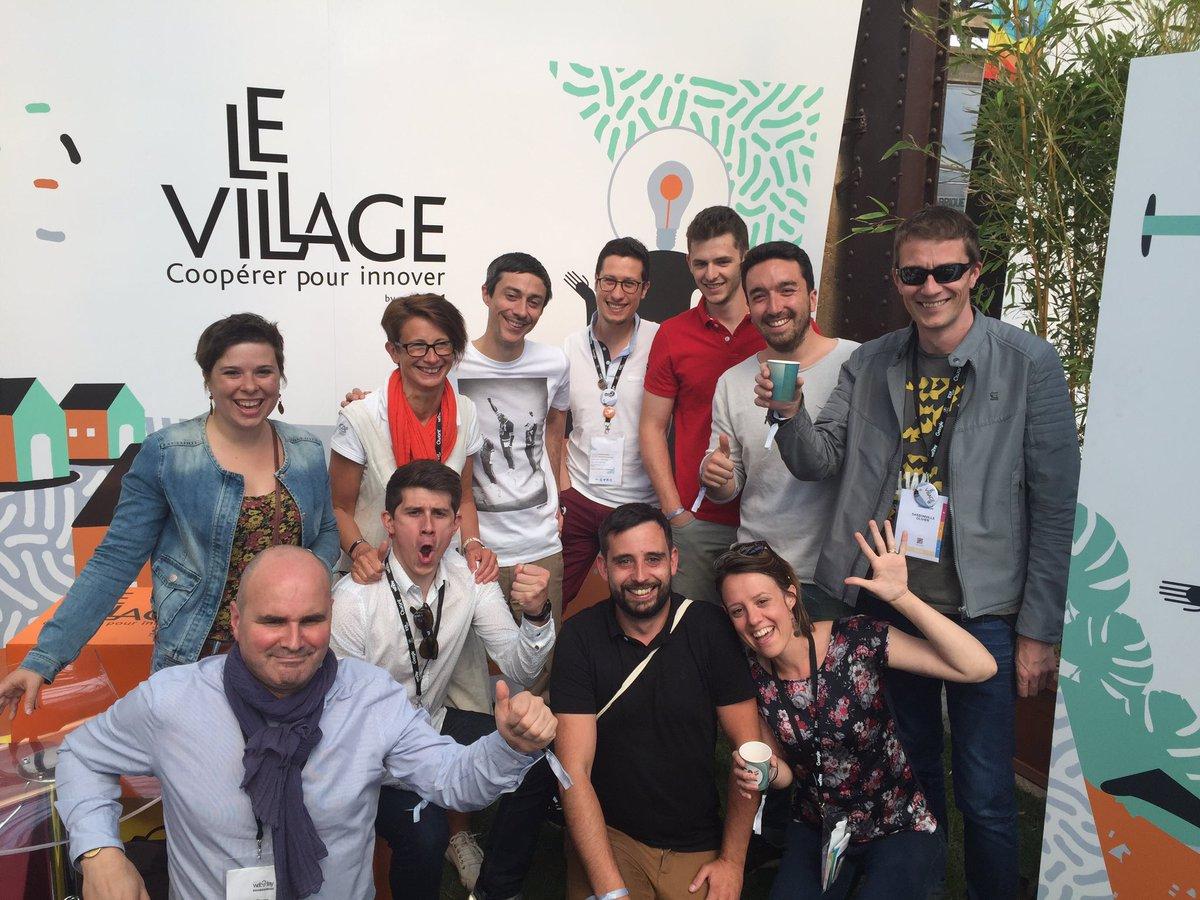 Colin de Gustav et l'équipe du Village dy CA au Web2day