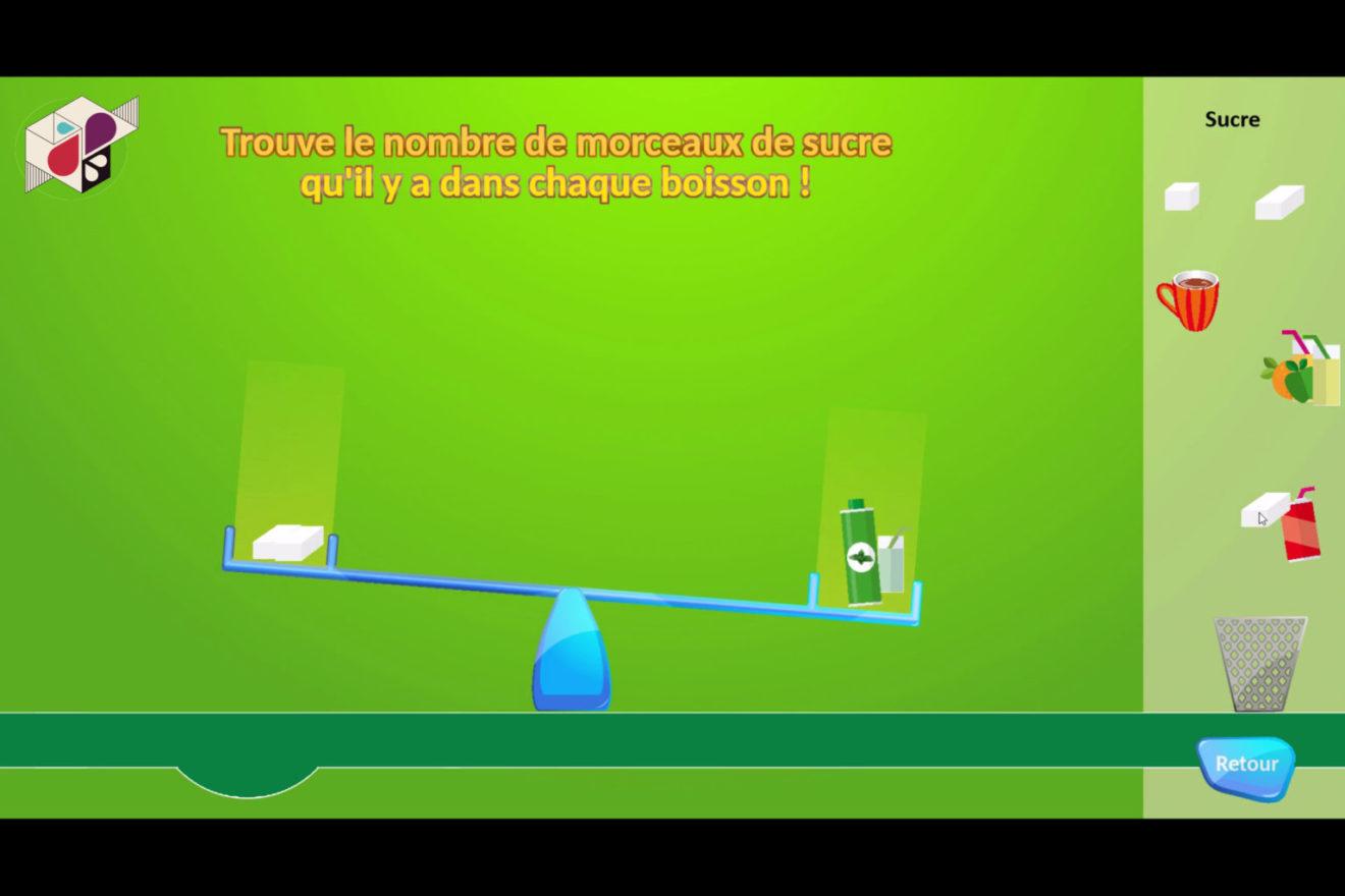Capture d'écran d'un serious game en cours de réalisation