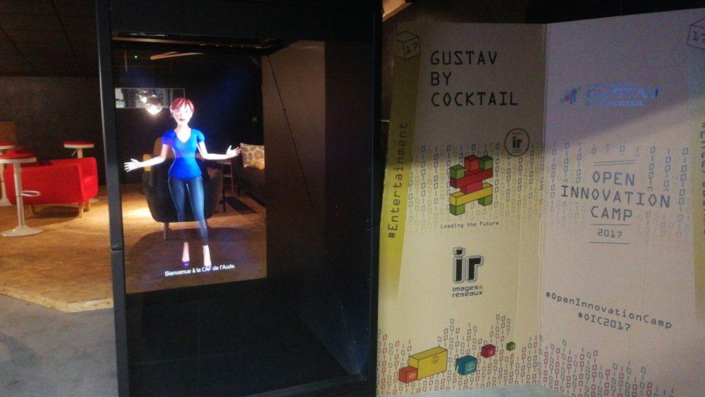 hologramme agent accueil virtuel