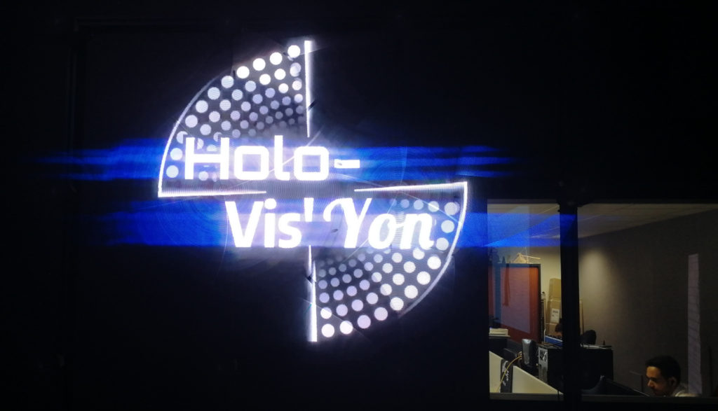 mur holographique holovis yon hologramme