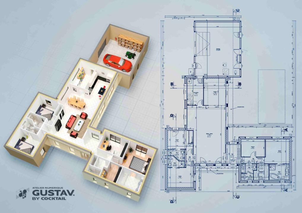 Infographie 3d architecture modelisation animation