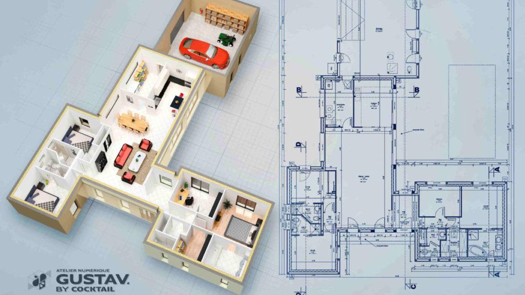 modelisation 3d architecture vendee roche sur yon