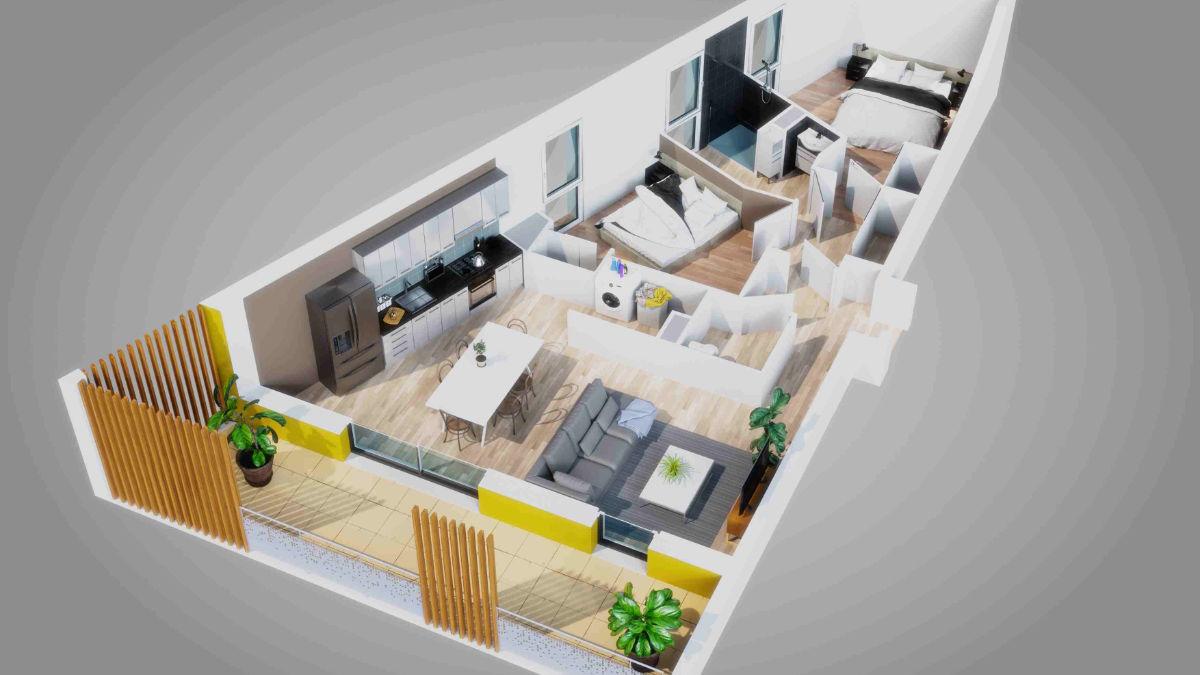 modelisation 3d architecture vendee roche sur yon maison visualisation